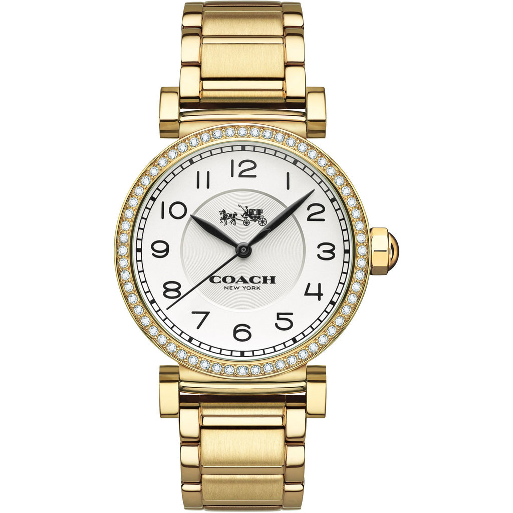 Madison Gold Tone Stainless Steel Cream Dial Ladies' Watch