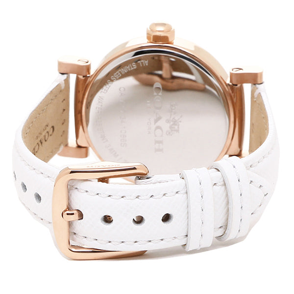 Madison White Leather White Dial Ladies' Watch