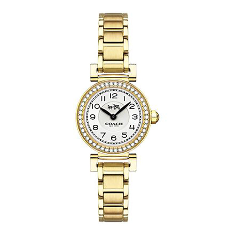 Madison Gold Tone Stainless Steel White Dial Ladies' Watch