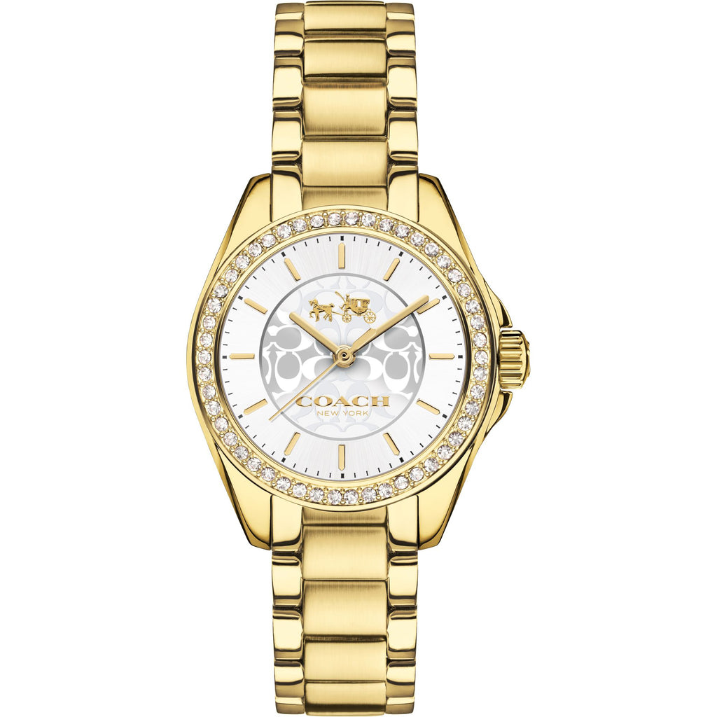 Tristen Gold-Tone Stainless Steel Off White Dial Ladies' Watch