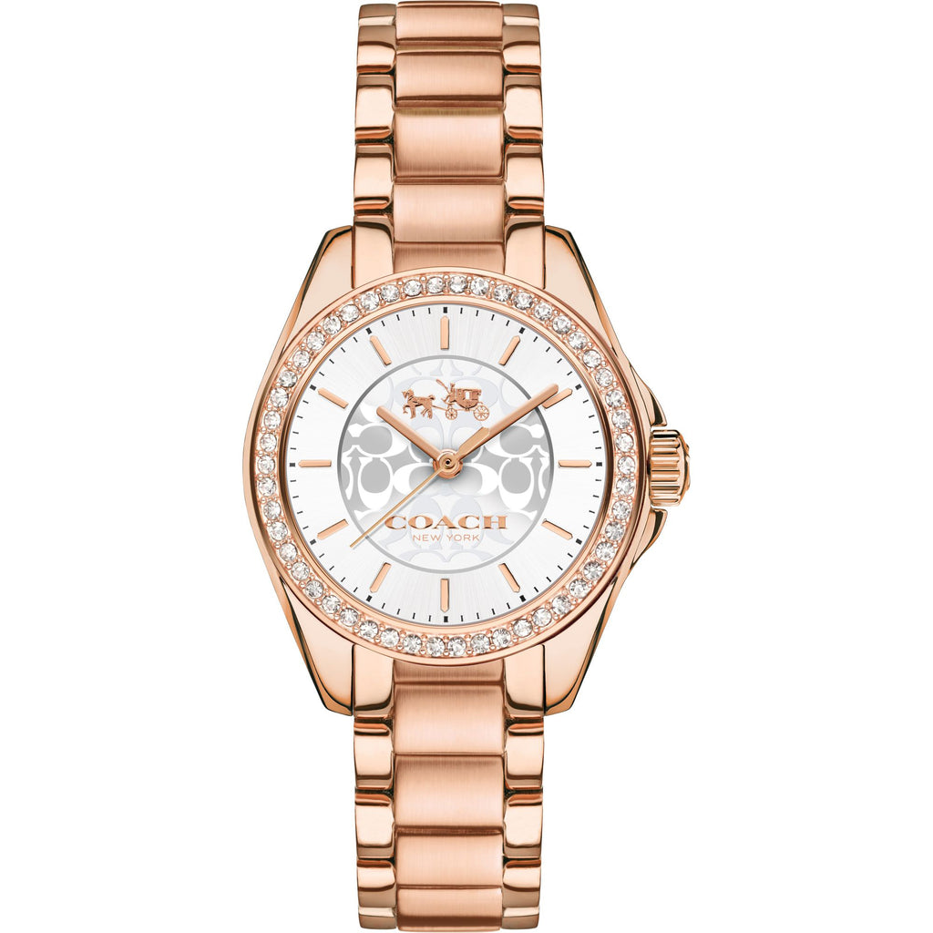 Tristen Rose Gold-Tone Stainless Steel Silver Dial Ladies' Watch