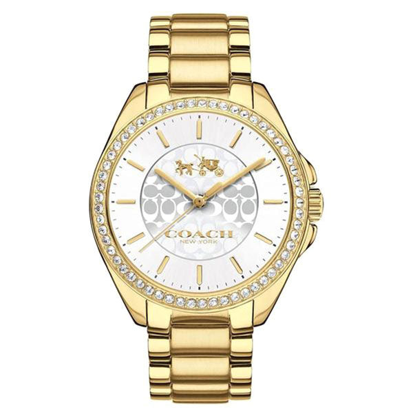 Tristen Gold-Tone Stainless Steel Silver Dial Ladies' Watch