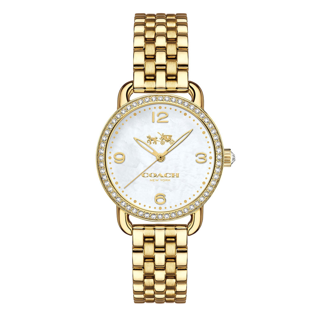 Delancey Gold-Tone Silver Tone Dial Ladies Watch