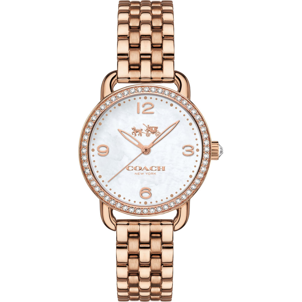 Delancey Rose Gold Tone Stainless Steel Off White Dial Ladies Watch