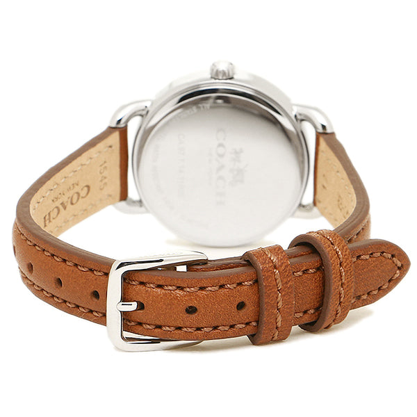 Delancey Brown Leather Strap Off White Dial Ladies Watch