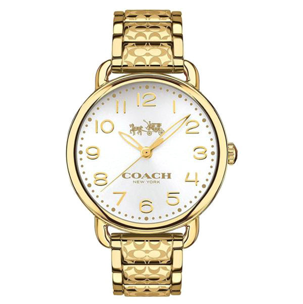 Delancey Gold Tone Stainless Steel Bracelet Silver Dial Ladies Watch