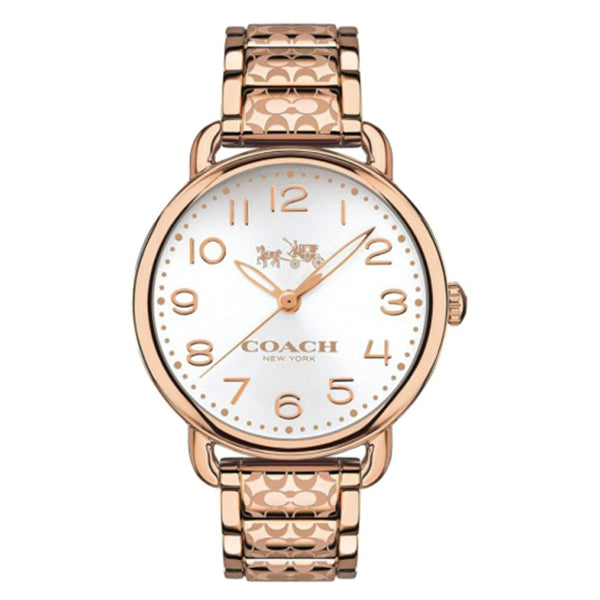 Delancey Rose Gold Tone Stainless Steel Bracelet Silver Dial Ladies Watch