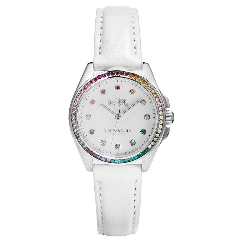 Tristen White Leather Strap Ladies' Watch