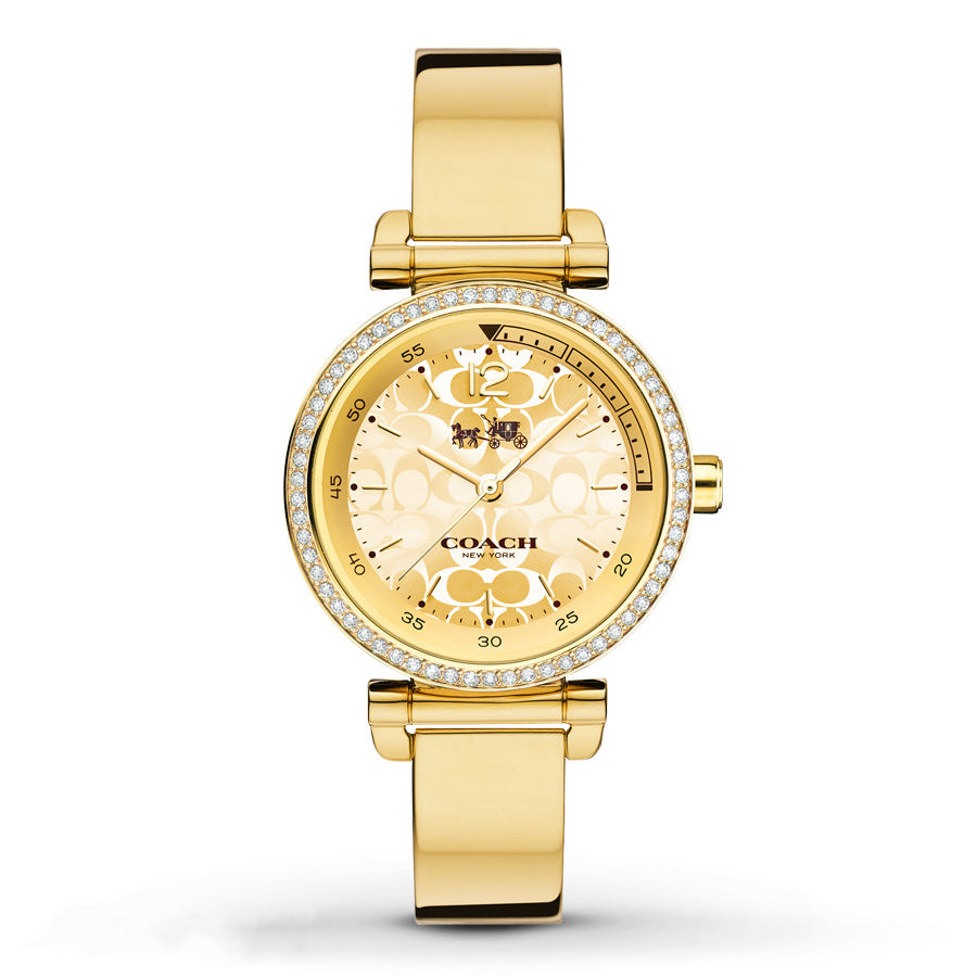 Sports Gold Tone Stainless Steel Bracelet Ladies' Watch
