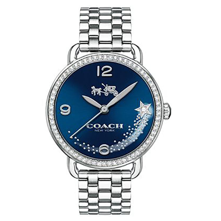 Delancey Navy Blue Dial Ladies Stainless Steel Watch