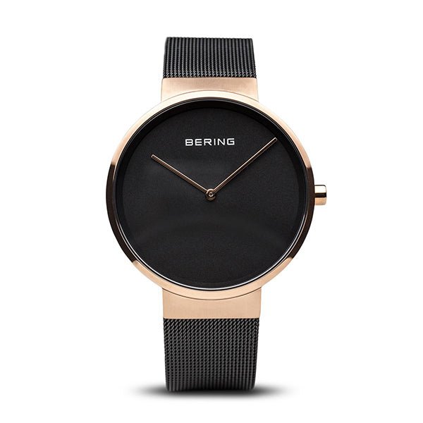 Bering Black-Tone Stainless Steel Men's Watch