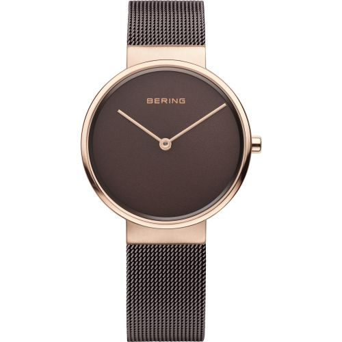 Bering Brown Tone Mesh Stainless Steel Max Rene Men's Watch