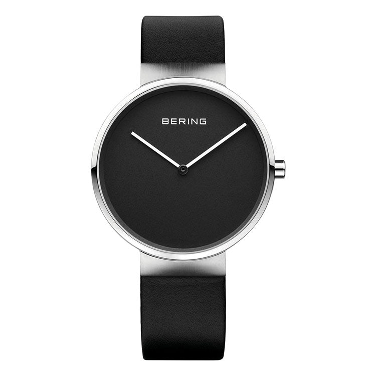 Bering Black Leather Max Rene Ladies' Watch
