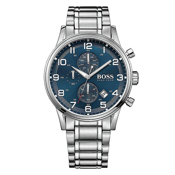 Aeroliner Chronograph Blue Dial Stainless Steel Bracelet Men's Watch