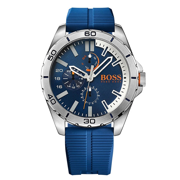 Berlin Blue Dial Blue Silicone Strap Men's Watch