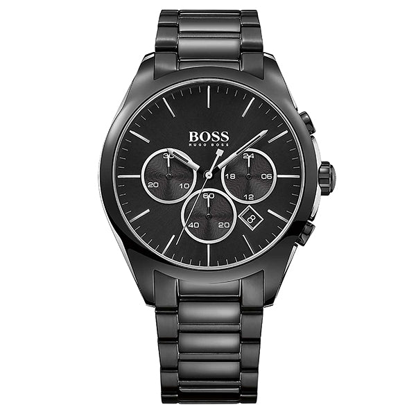 Onyx Black Dial With Black Ion-Plated Stainless Steel Bracelet Men's Watch