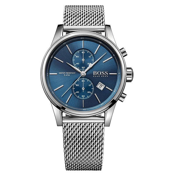 Jet Chronograph Blue Dial With Stainless Steel Bracelet Men's Watch