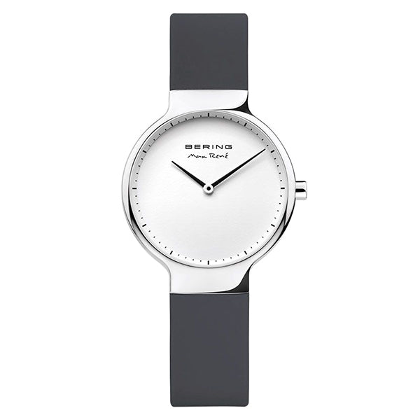 Bering Black Rubber Max Rene Ladies' Watch