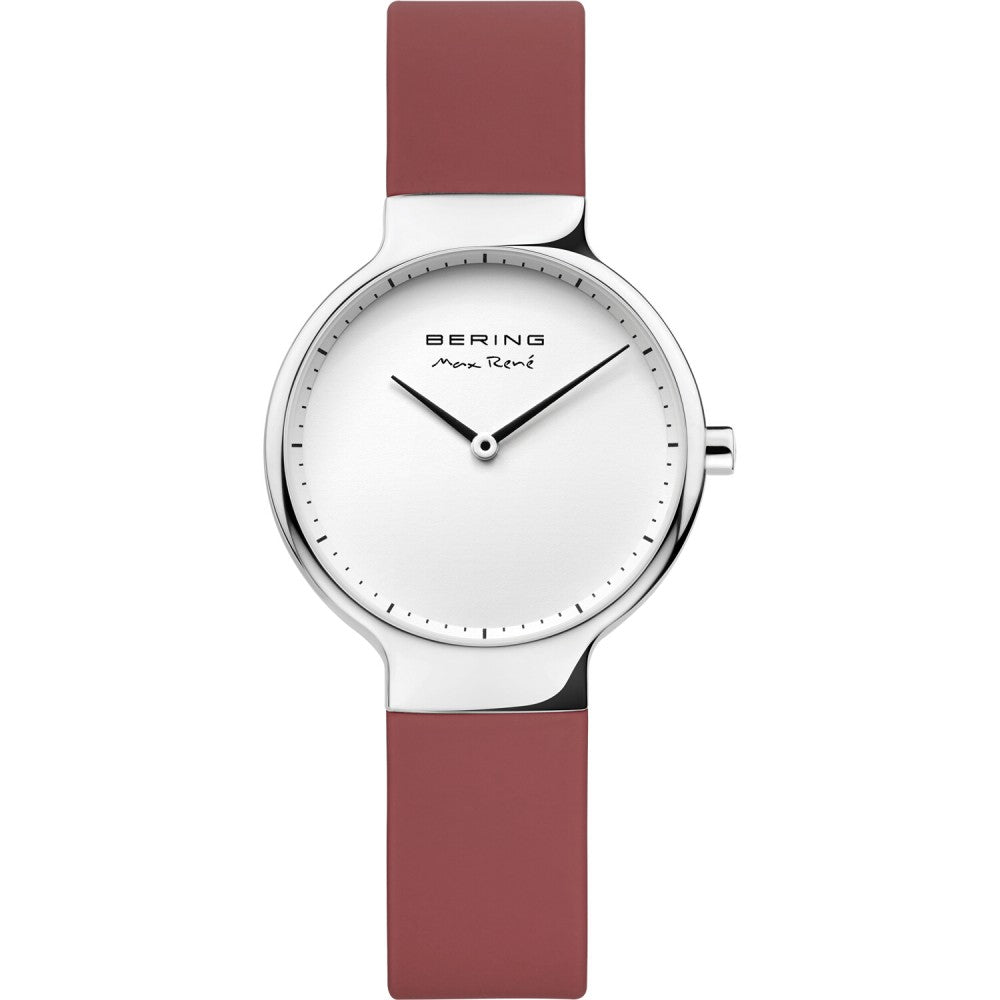 Bering 31mm Max Rene Red Rubber Ladies' Watch