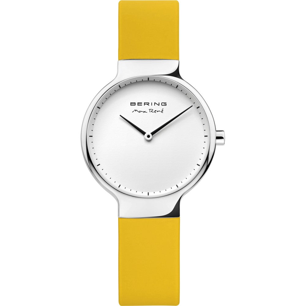 Bering 31mm Max Rene Yellow Rubber Ladies' Watch