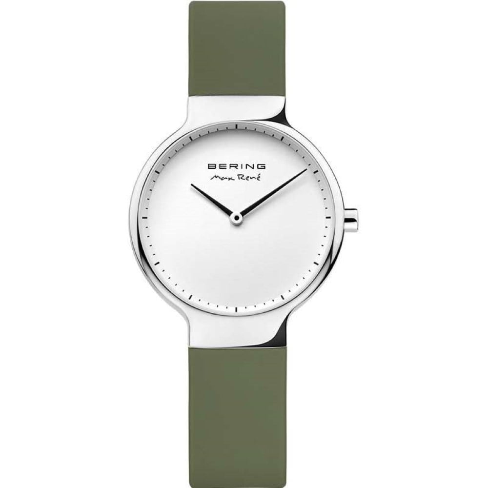 Bering 31mm Max Rene Green Rubber Ladies' Watch