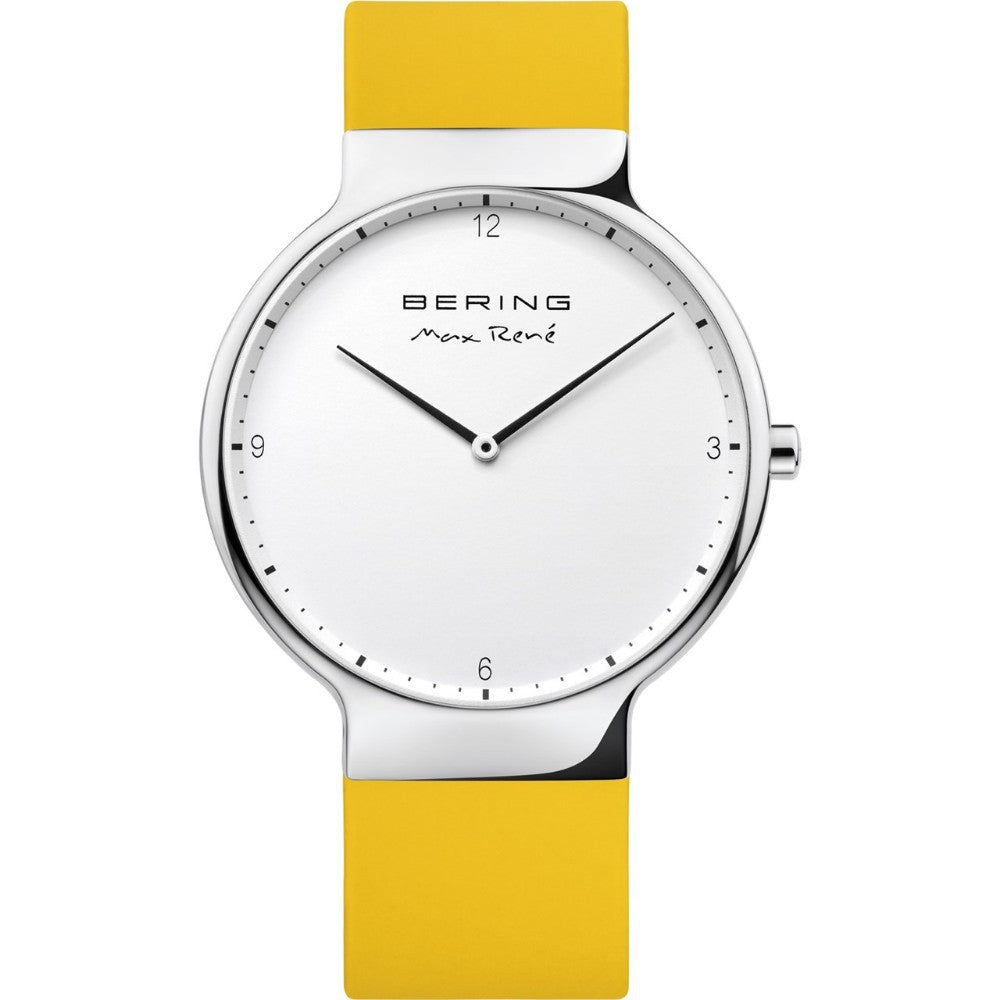 Bering 40mm Max Rene Yellow Rubber Men's Watch