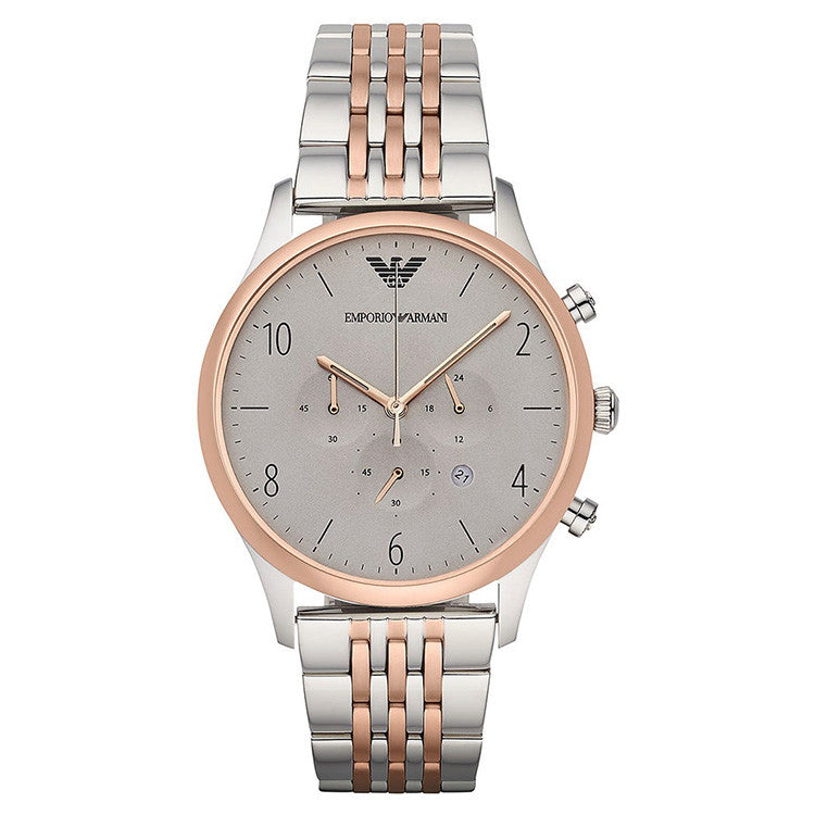 Chronograph Grey Dial Two-tone Steel Bracelet Men's Watch