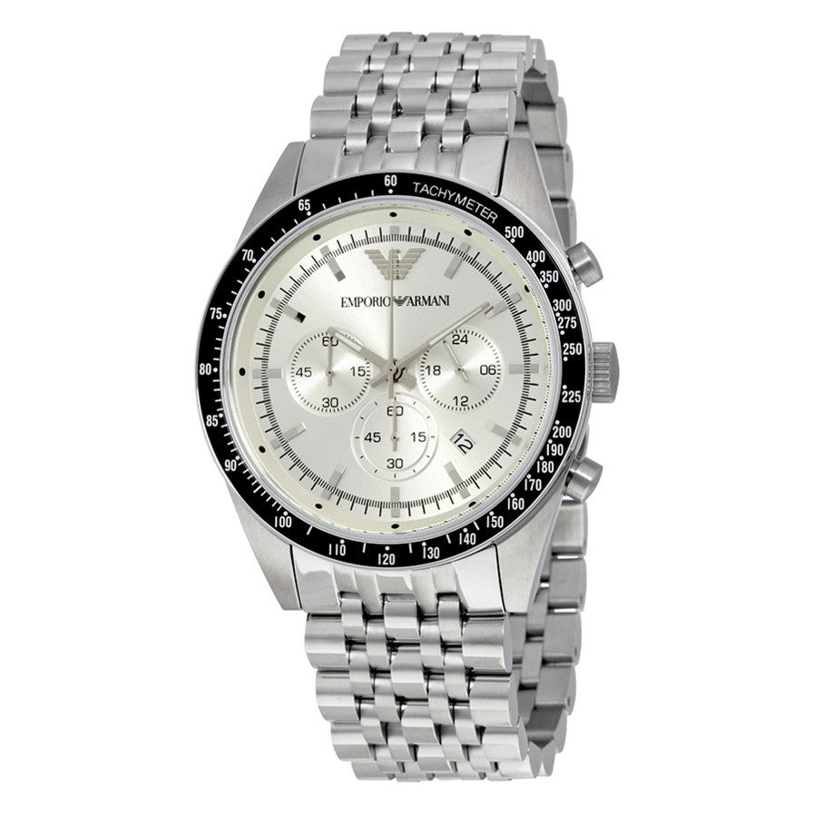 Sportivo Chronograph Silver Dial Stainless Steel Men's Watch