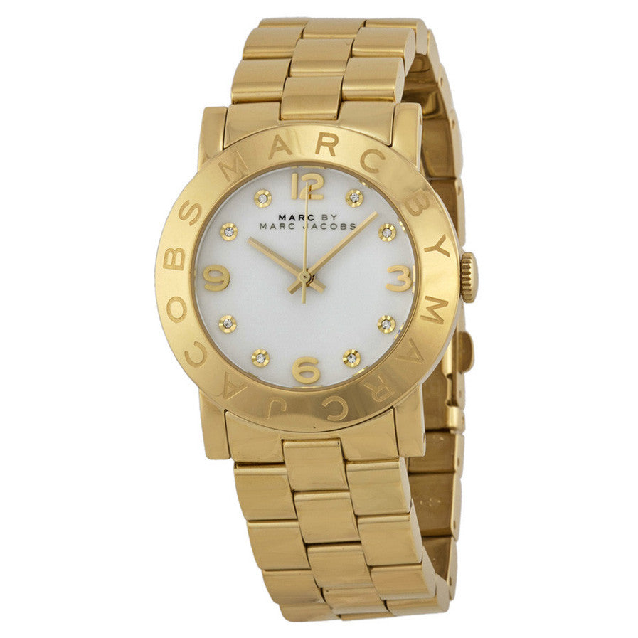 Marc Jacobs Amy White Dial Gold-Tone Stainless Steel Ladies Watch