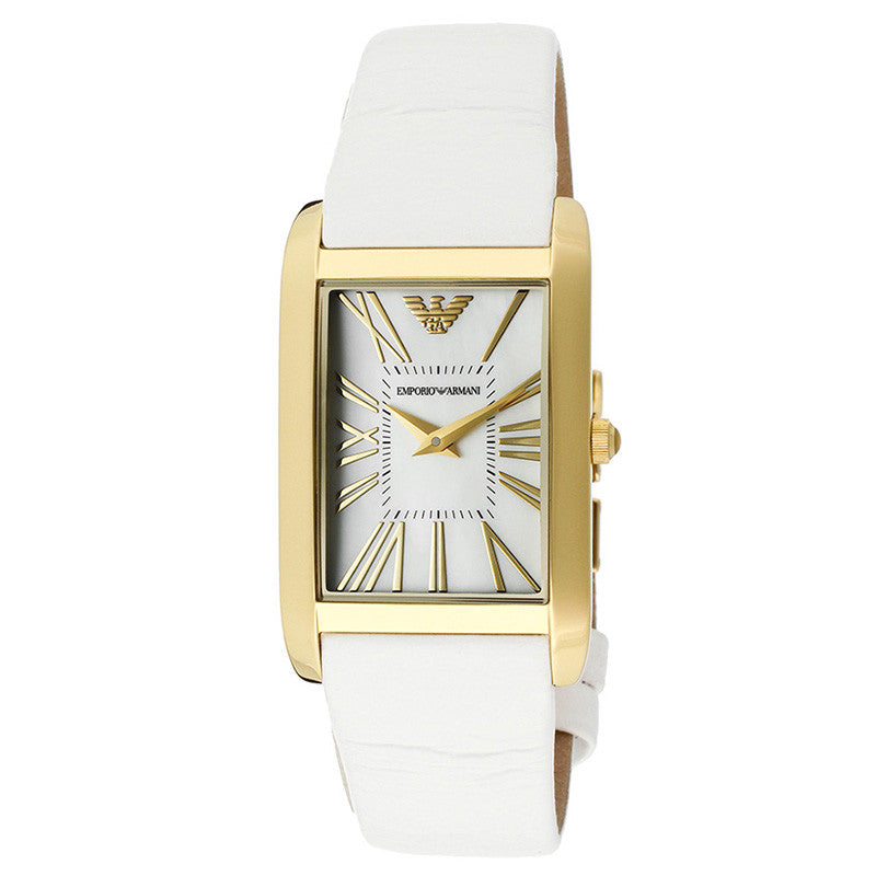 White Dial White  Leather Ladies' Watch
