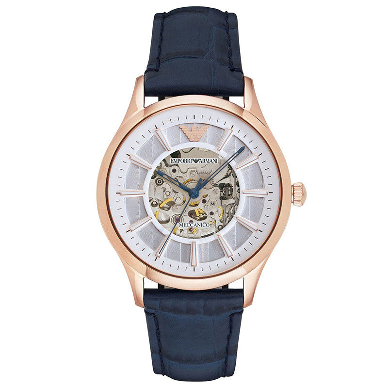 Meccanico Dress White Dial Blue Leather Ladies' Watch