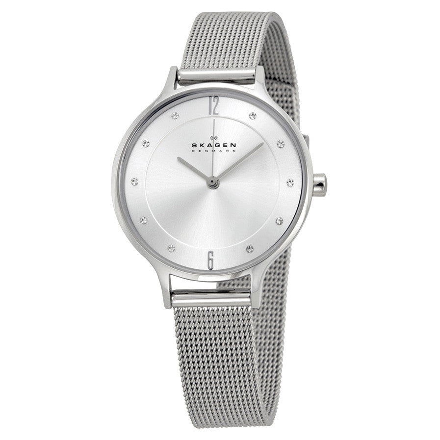 Anita Silver Dial Stainless Steel Mesh Ladies Watch