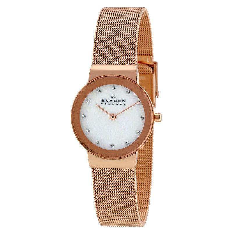Freja Mother of Pearl Dial Rose Gold-tone Ladies Watch