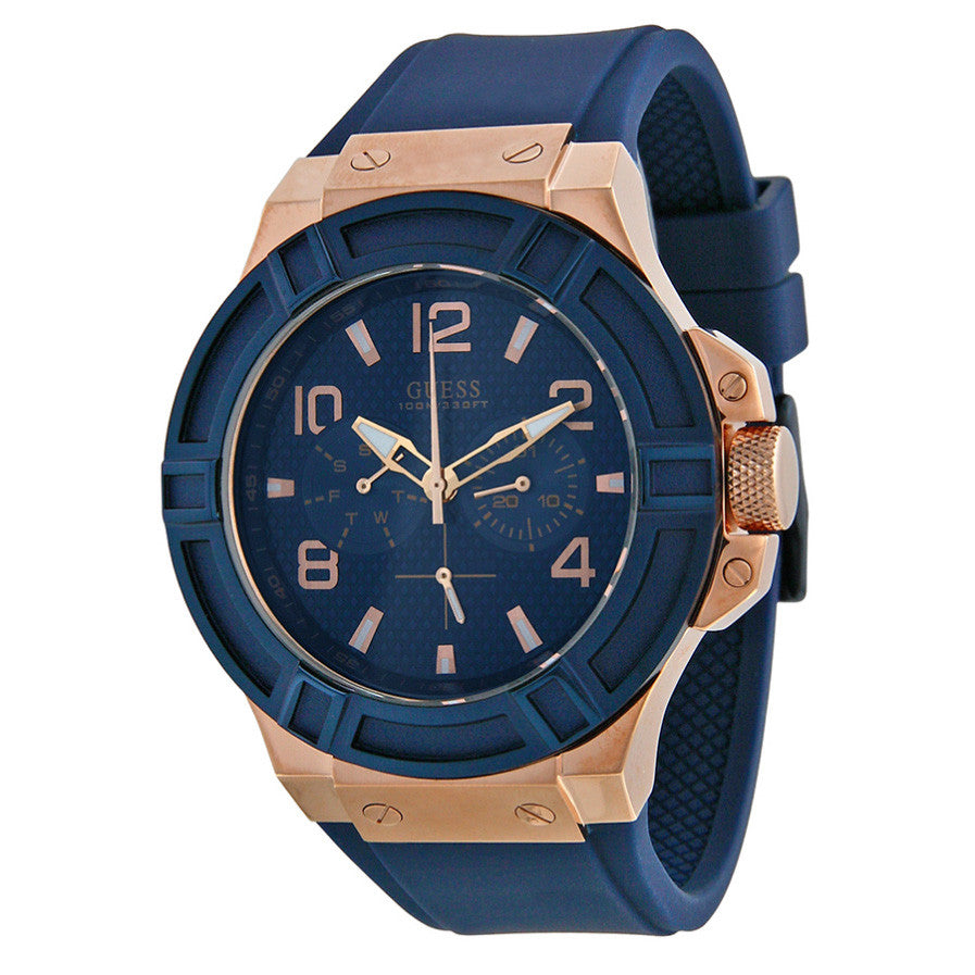 Rigor Multi-Function Blue Dial Blue Silicone Men's Watch