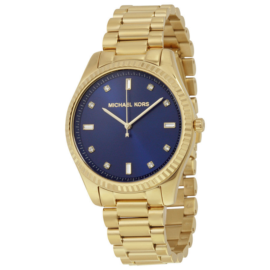 Blue Dial Gold-tone Ladies Watch