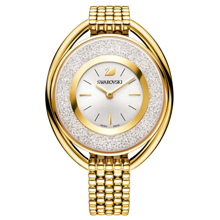 Crystalline Gold-tone Bracelet Ladies Watch