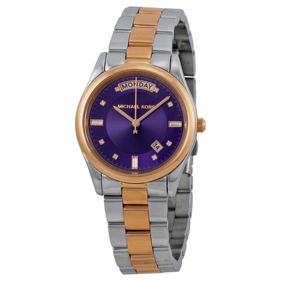 Colette Purple Dial Two-tone Ladies Watch