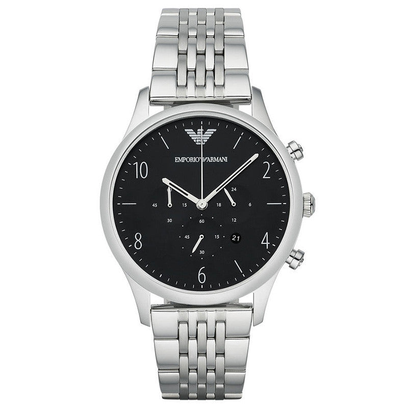 Chronograph Black Dial Stainless Steel Bracelet Men's Watch