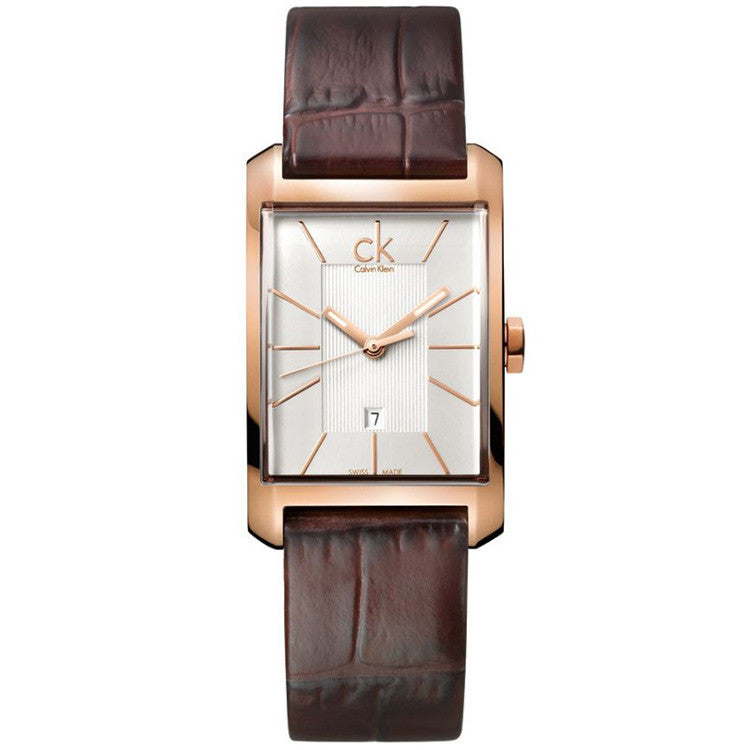 Window Rose Gold Tone Leather Ladies' Watch