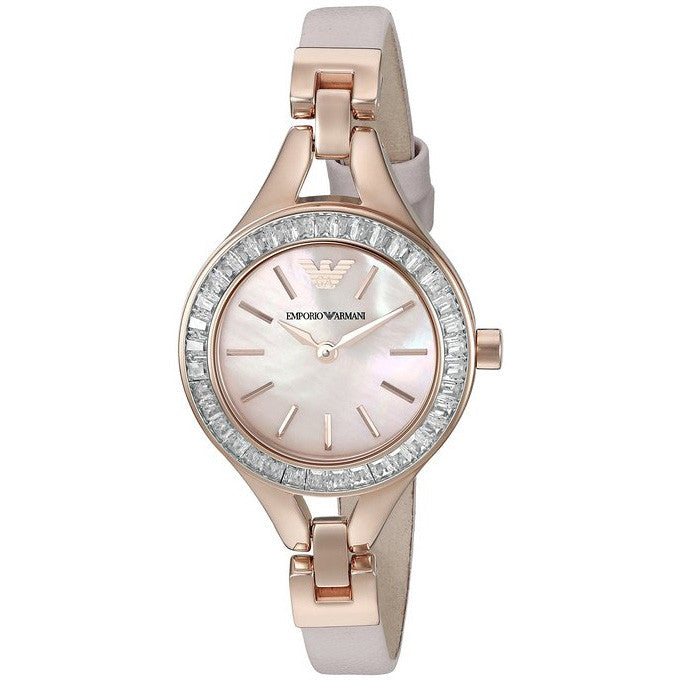 Dress Pink Mother Of Pearl Dial Ladies Watch