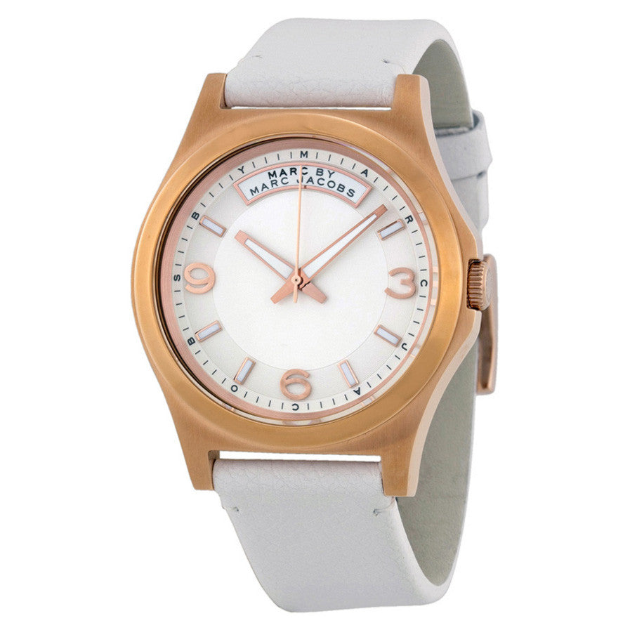 Baby Dave Ivory Dial White Leather Unisex Watch
