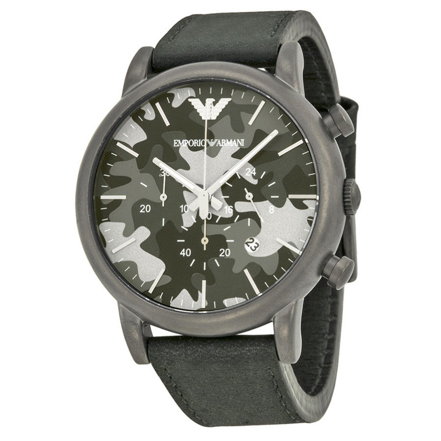 Classic Chronograph Grey Camouflage Dial Men's Watch