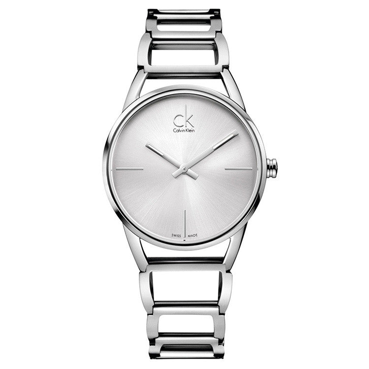 Stately Steel Dial Stainless Steel Ladies' Watch