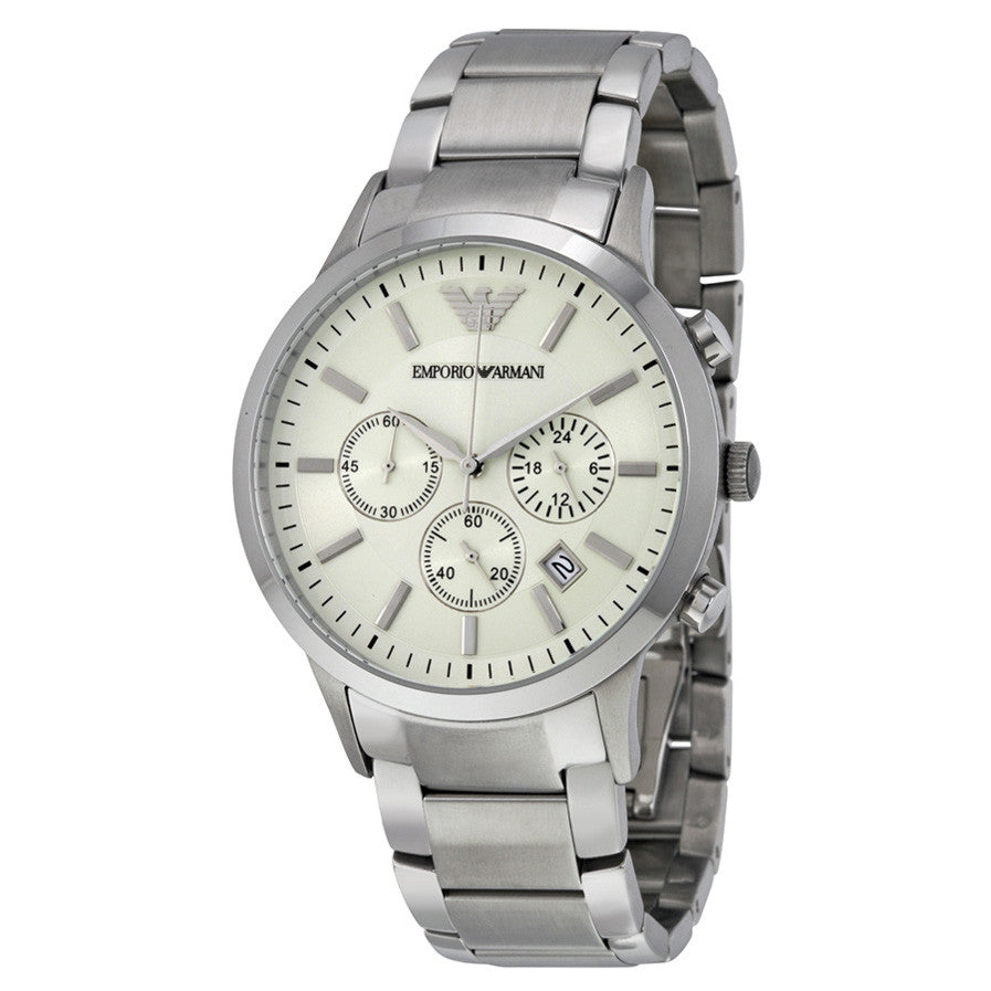 Sportivo Chronograph Cream Dial Stainless Steel Men's Watch