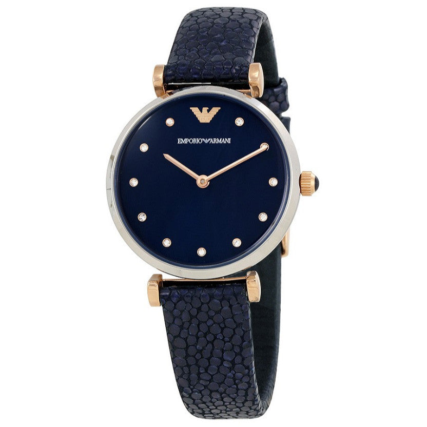 Retro Navy Dial Ladies Watch