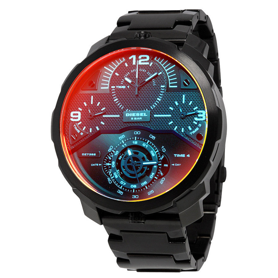 Machinus Infrared Tinged 4 Timezone Men's Watch