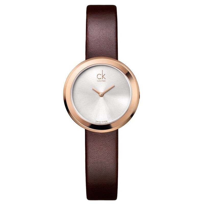 Firm Silver Dial Rose Gold Ladies' Watch