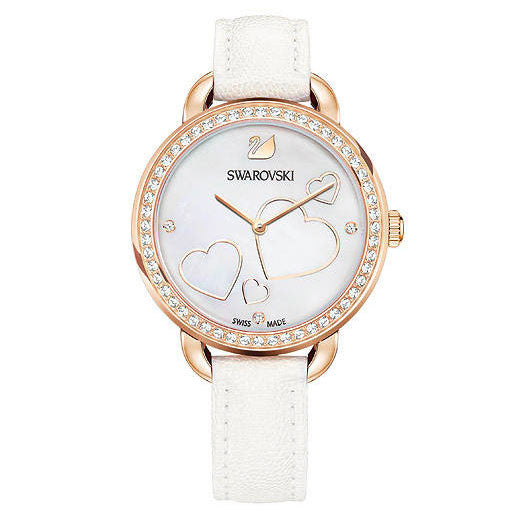 Aila Day Heart Crystal-paved Bezel Ladies Watch