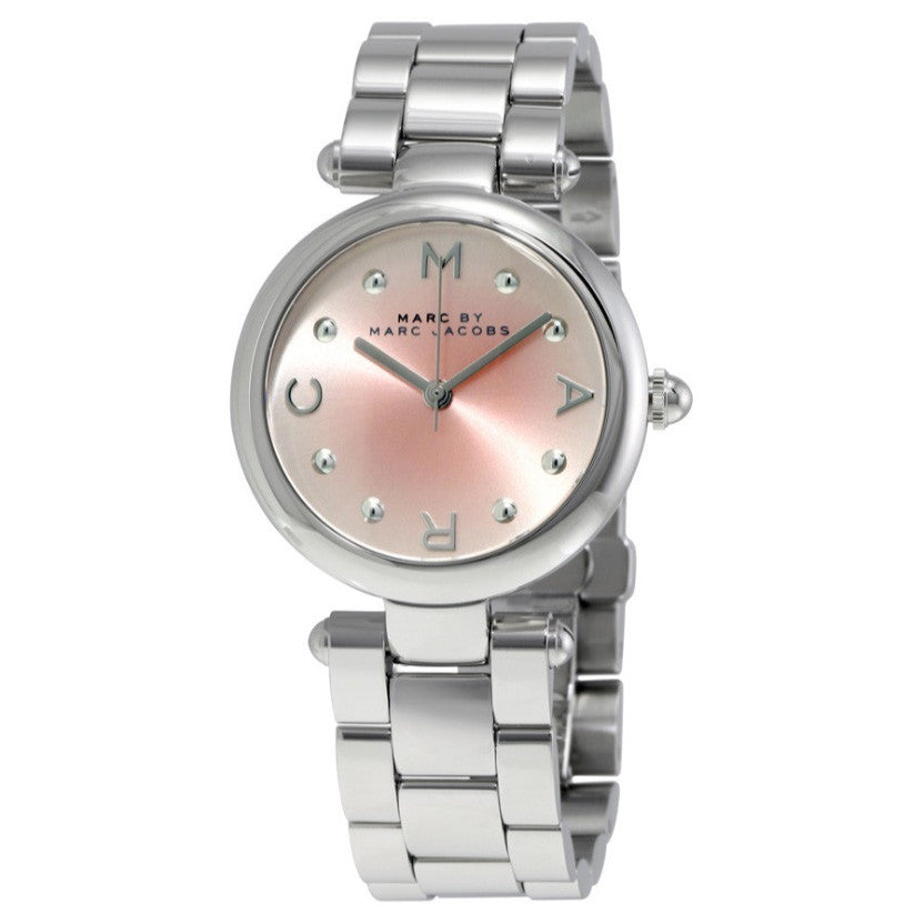 Dotty Pink Sunray Dial Stainless Steel Ladies Watch