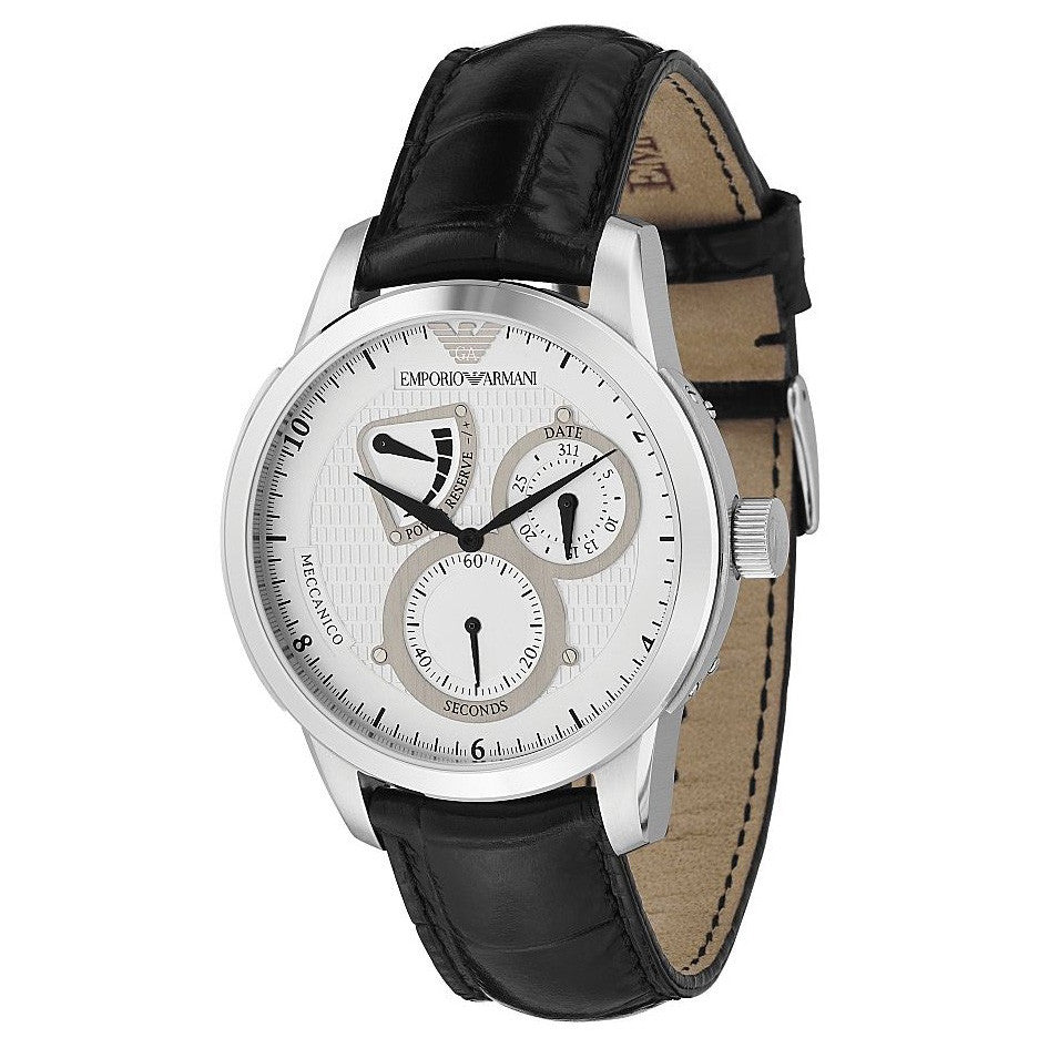 Meccanico Automatic Black Leather Men's Watch